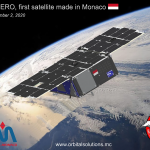 Historical launch on Sept. 2nd, 2020: The first satellite from Monaco is now orbiting the earth